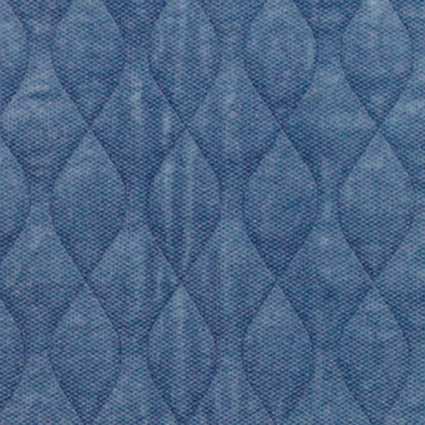 Blue quilted velour pad