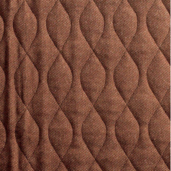 Quilted brown velour pad