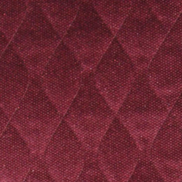 Burgundy Velour Pad quilted