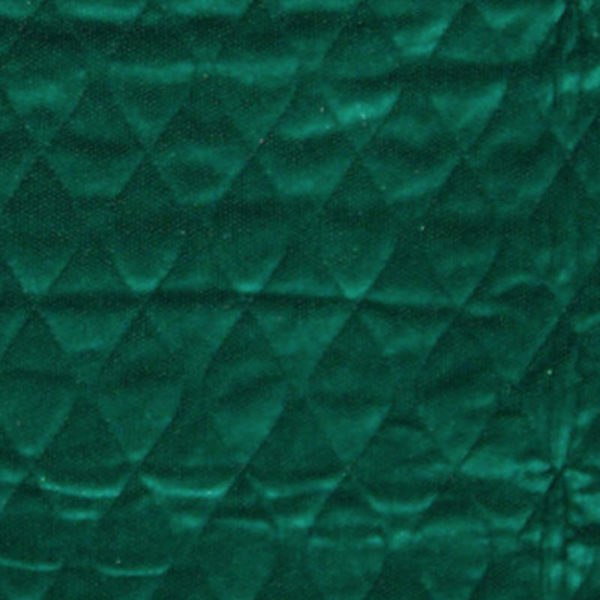 Green velour quilted pad