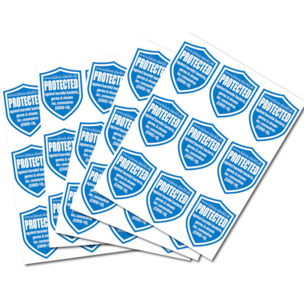 Sheet of Fabric Shield Stickers
