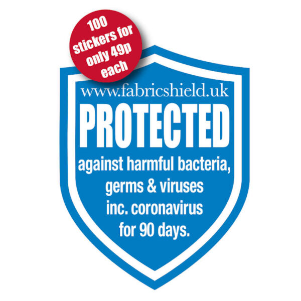 FabricShield Protected stickers offer